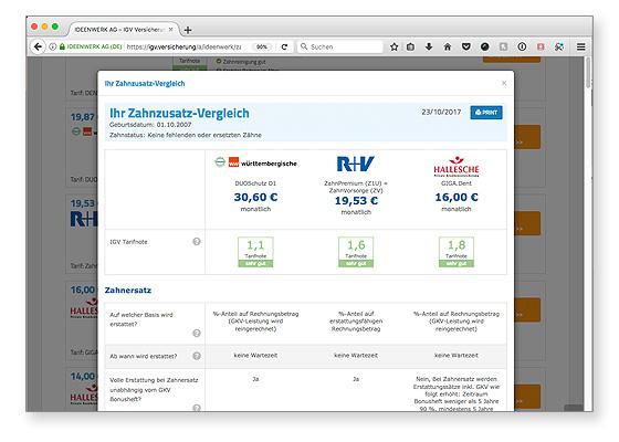 Online Tarifrechner igv.versicherung